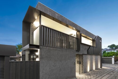 modern rear townhouse