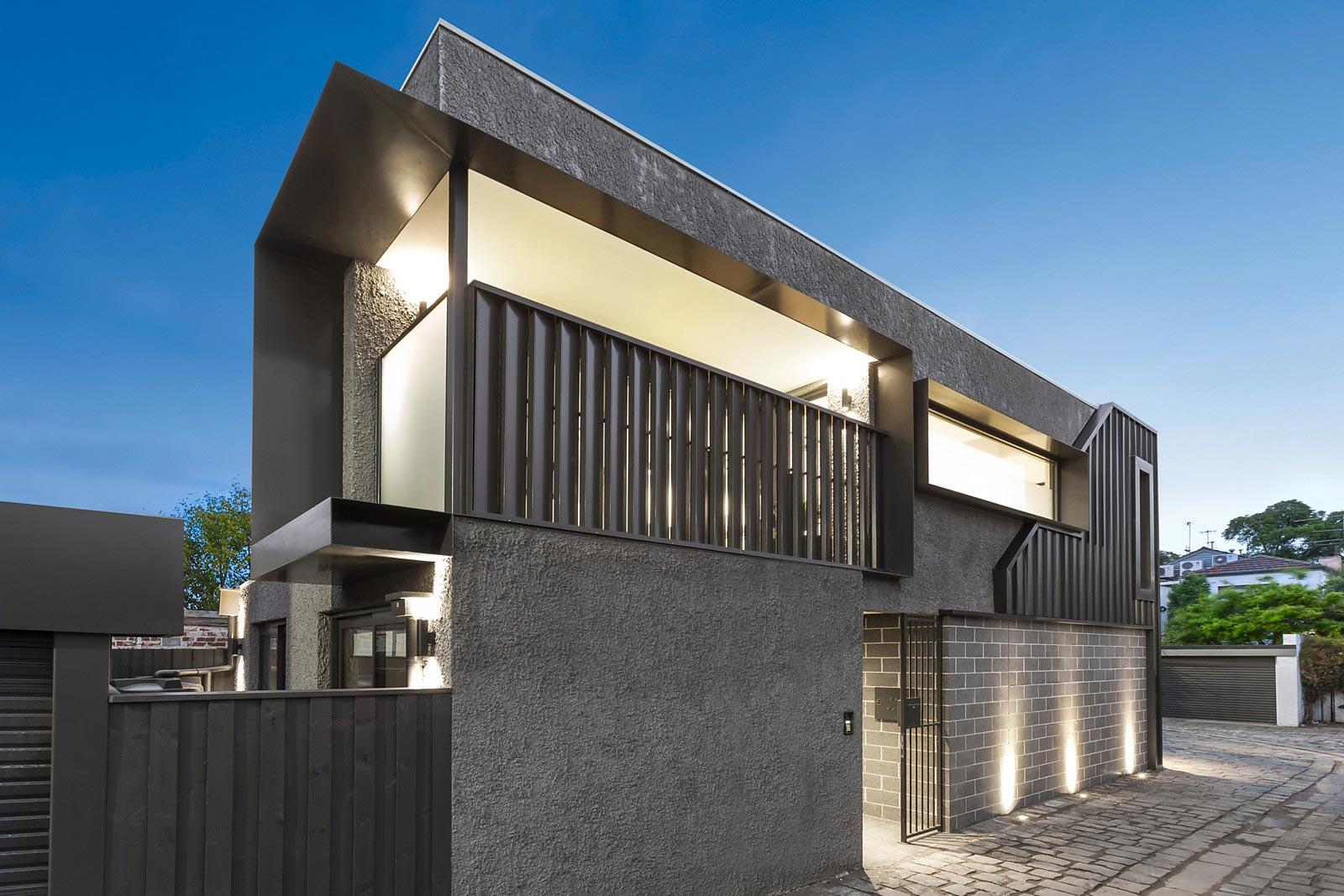 modern rear townhouse