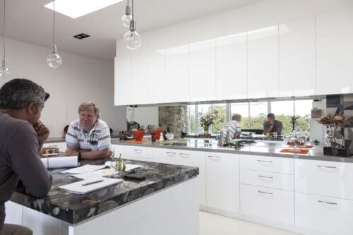 Kitchen Nearing Completion 500x333, Michael Ellis Architects